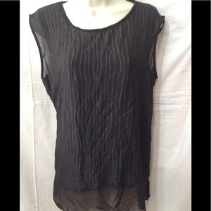 Women's size Large VERA WANG sheer overlay blouse